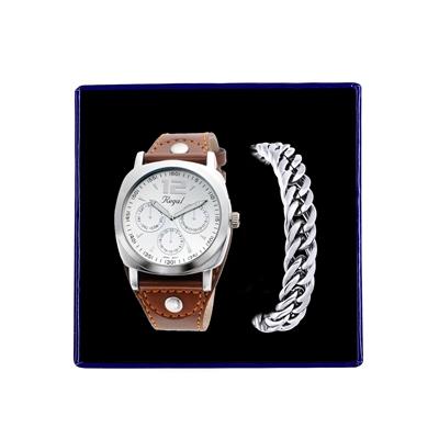 Stalen set armband & Regal horloge