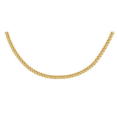 Gold plated ketting met gourmet schakel 50 cm__1012450__0
