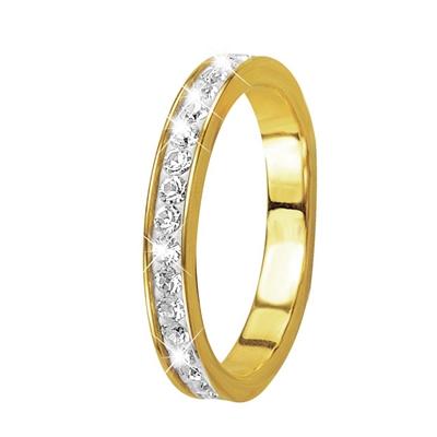 Gelbgoldener Ring, 14 Karat, mit Kristall__1013473__0