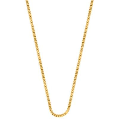 Eve gold plated ketting met gourmet schakel__1015592__0