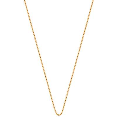 Eve gold plated ketting met venetiaanse schakel__1015593__0