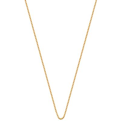 Goldplated ketting met venetiaanse schakel__1015593__0