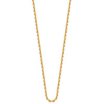 Goldplated ketting met anker schakel__1015595__0