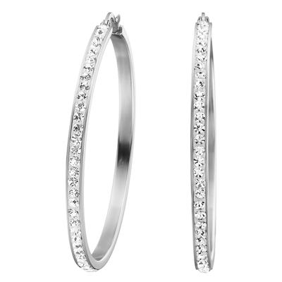Ohrringe aus Stahl mit Kristall__1017472__0