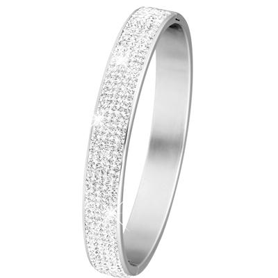 Stalen armband bangle met kristal__1017898__0