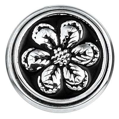 Stalen chunk bloem zwart enamel__1018366__0