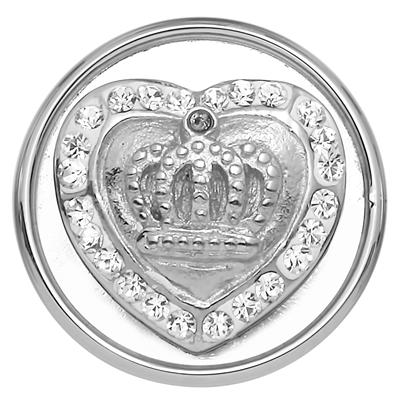Stalen chunk kristal hart/kroon__1018383__0