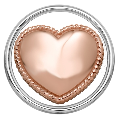 Stalen chunk hart roseplated__1018389__0