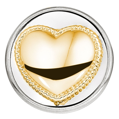 Stalen chunk hart goldplated__1018390__0