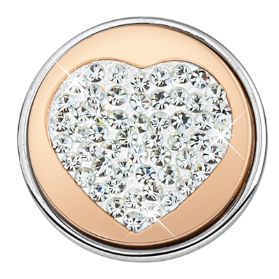 Stalen chunk kristal hart roseplated__1018403__0
