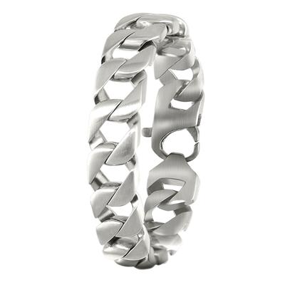 Herrenarmband aus Stahl Gourmet-Kettenglied__1019024__0