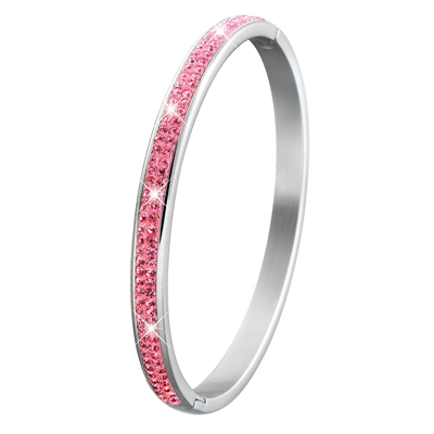 Kinder Stahlarmreif mit rosa Kristall__1019516__0