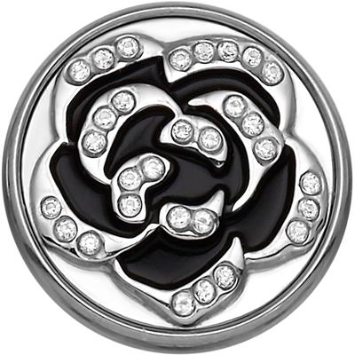 Stalen chunk roos zwart met kristal__1020257__0