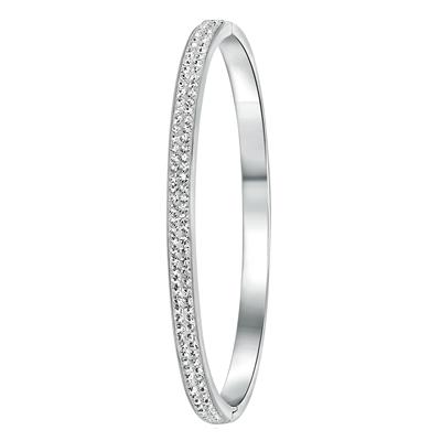 Stalen armband bangle met kristal__1020810__0