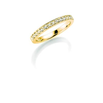 14K gouden trouwring diamant Cassia H164