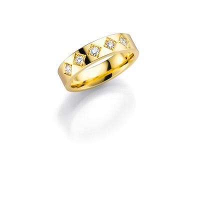 14K gouden trouwring  diamant Magnolia H168__1036419__0