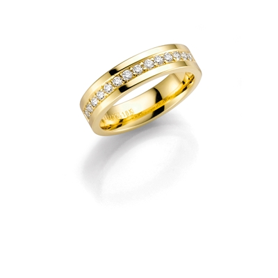 14K gouden trouwring diamant Salvia H172
