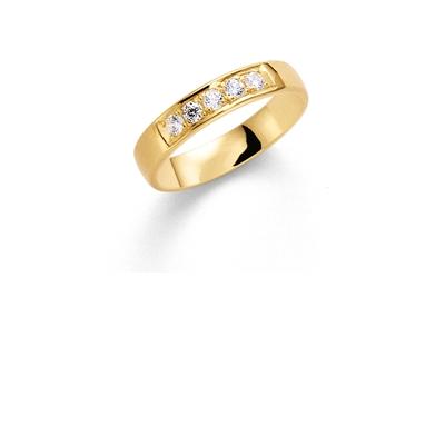 14K gouden trouwring diamant Lupine H184__1036427__0