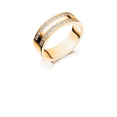 14K gouden trouwring diamant Celosia H192