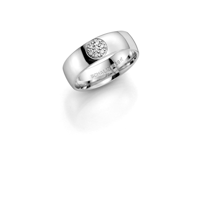14K witgouden trouwring  diamant Oleander H171__1036450__0