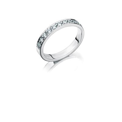 14K witgouden trouwring  diamant Parnassia H187__1036458__0