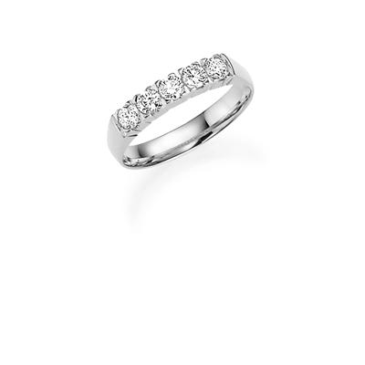14K witgouden trouwring  diamant Hibiscus H222__1036473__0