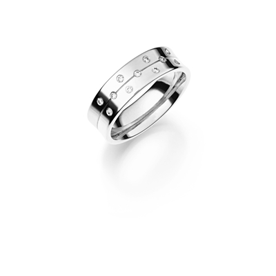 14K witgouden trouwring  diamant Lathyrus H224__1036474__0