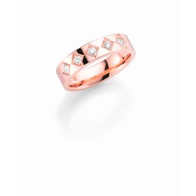 14K rosegouden trouwring  diamant Magnolia H168R__1036479__0