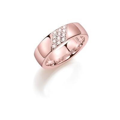 14K rosegouden trouwring  diamant Lelie H174R__1036482__0