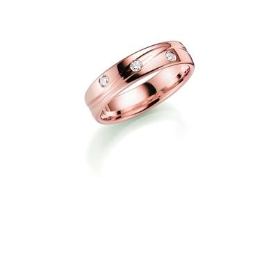 14K rosegouden trouwring diamant Mandevilla H206R