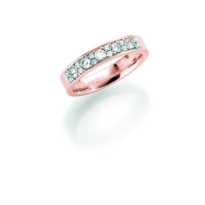 14K rosegouden trouwring diamant Anemoon H208R