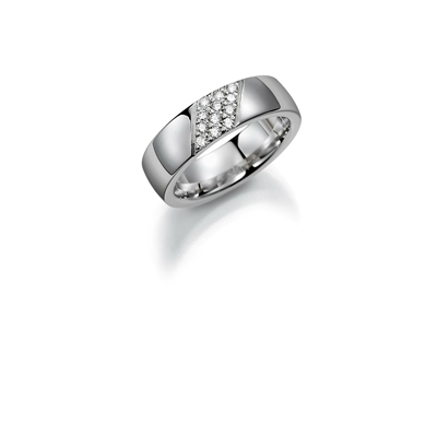 Palladium trouwring  diamant Lelie H174P__1036512__0