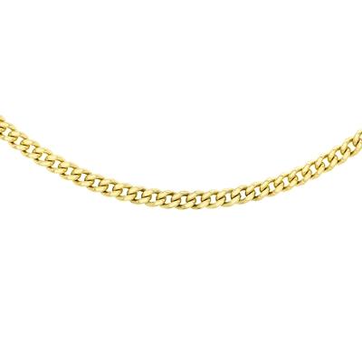 9 Karaat ketting gourmet schakel diamond cut__1047259__0