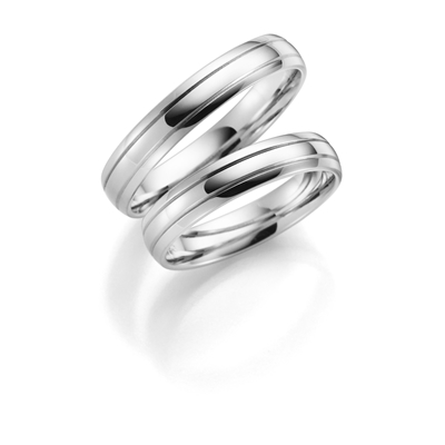 9 karaat witte trouwring Flora Dames H12W__1049517__0