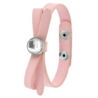 Roze byoux armbandje strik met steentje__1051755__0