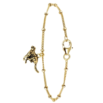 Armband aus vergoldetem 925 Silber, Leopard__1054529__0