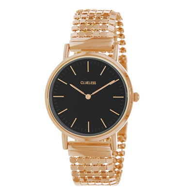 Clueless Armbanduhr mit rosafarbenem Edelstahlband__1057324__0