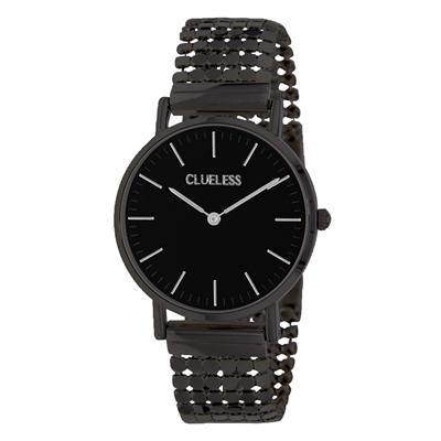 Clueless Armbanduhr mit schwarzem Edelstahlband__1057327__0