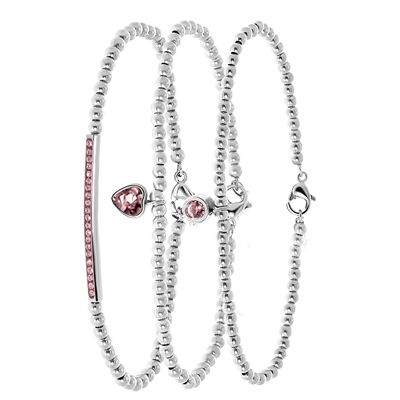 Stalen set Endless armbanden met kristal__1057577__0