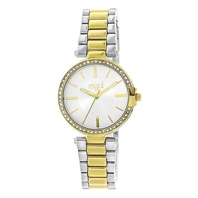 Regal-Damenarmbanduhr mit zweifarbigem Armband__1057709__0