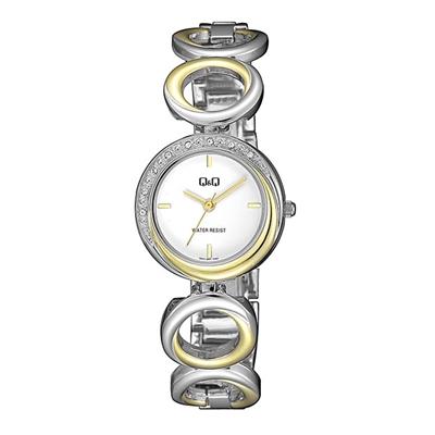 Q&Q Armbanduhr mit zweifarbigem Edelstahlarmband__1057850__0