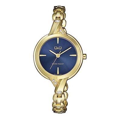 Q&Q Armbanduhr mit goldfarbenem Edelstahlarmband__1057851__0