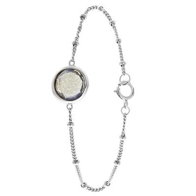 Zilveren armband Gemstone labradorite