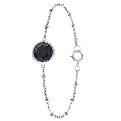 Zilveren armband Gemstone black onyx