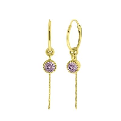 Ohrringe, 925 Silber, vergoldet, Geburtsstein__1059043__0