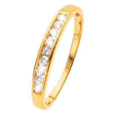 Gelbgoldener Ring, 14 Karat, mit Zirkonia__26705020__0