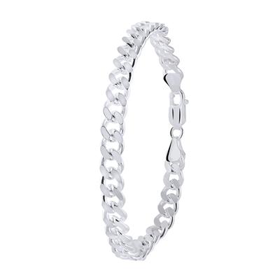Herrenarmband in 925 Silber mit Gourmetglied 21 cm__30406098__0
