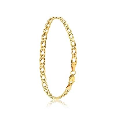 9 Karaat armband met platte fantasieschakel__1034210__0
