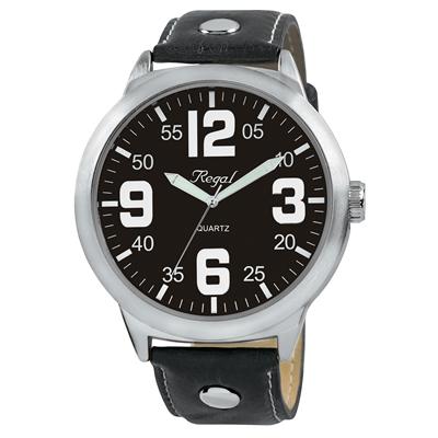 Regal horloge XL zwarte leren band R23804-267__1000964__0