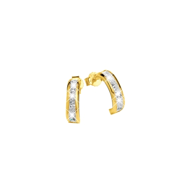 Gelbgoldene Ohrringe mit Zirkonia__1017643__0